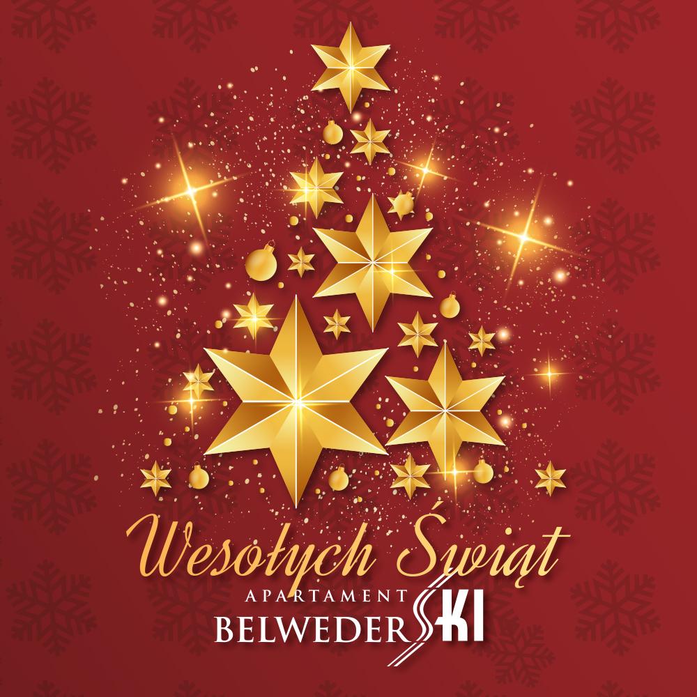Życzenie świąteczne apartament belwederski Wisła