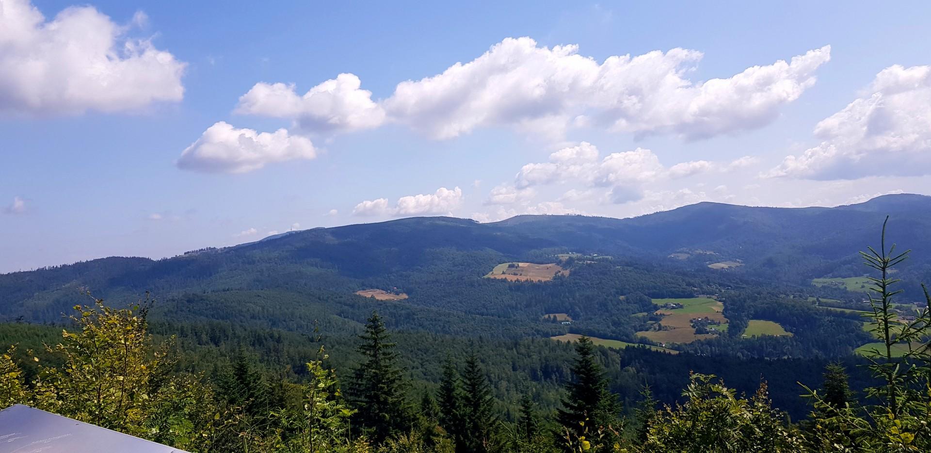 Widok z góry Czupel - Beskid Śląski