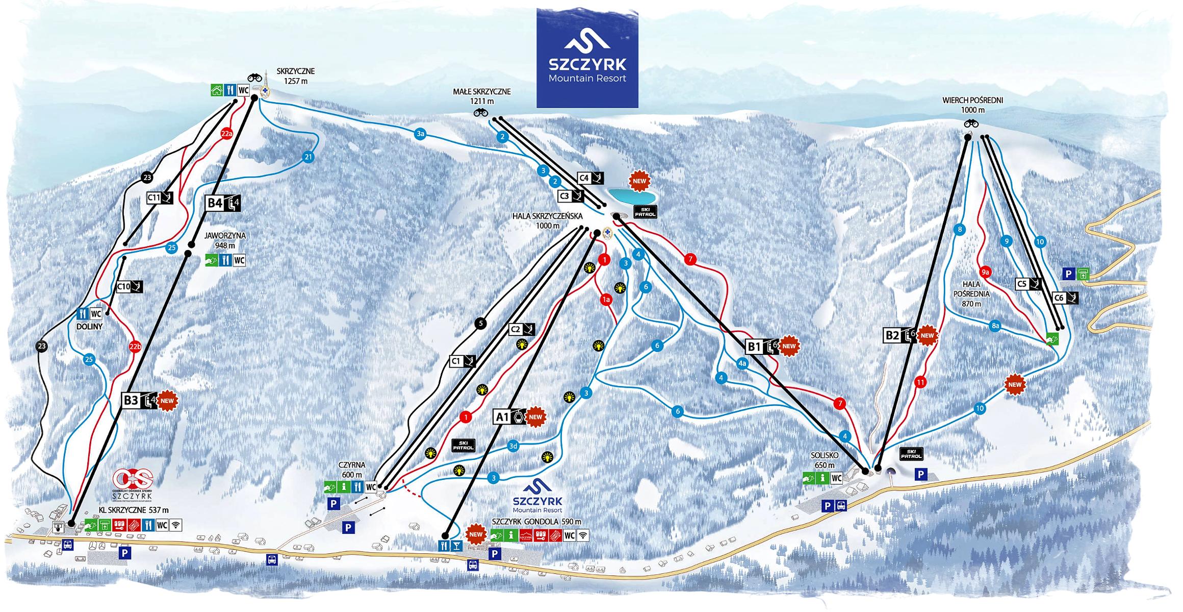 Mapa Szczyrk Mountain Resort