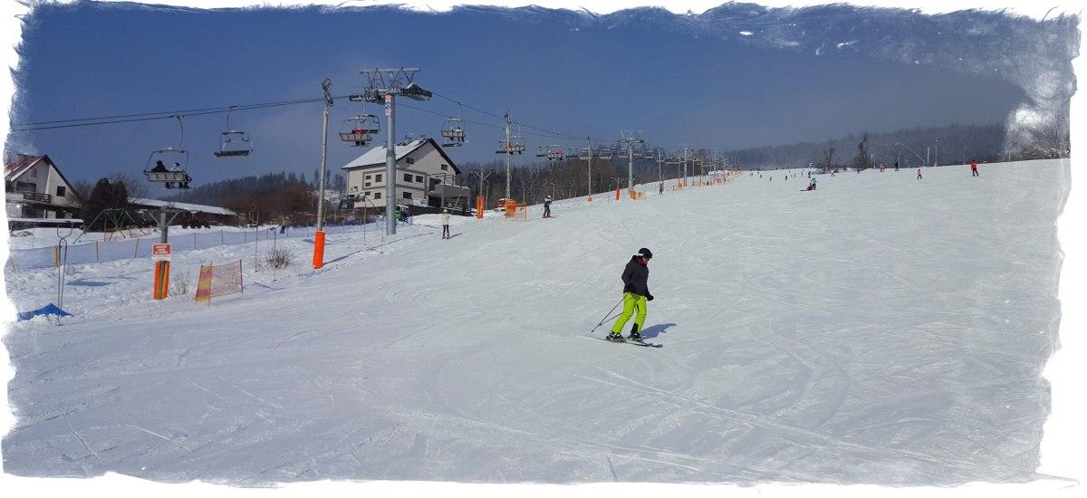 zima w Wiśle - stok narciarski Klepki